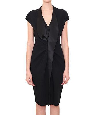 Instancabile Givenchy Donna Abito Con Fronzoli In Raso Nuovo Con Etichetta 100% Autentico!-mostra Il Titolo Originale