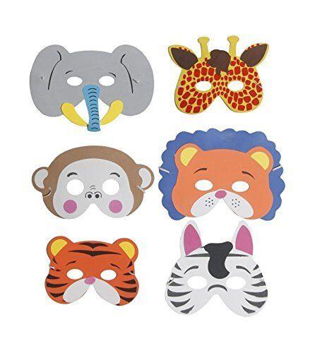 single jungle foam Animal Mask