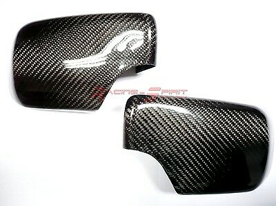 REAL 3D GLOSSY CARBON FIBER SIDE MIRROR COVER CAP 98-05 BMW E46 3-SERIES 325 330