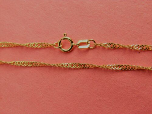 10Kt Yellow Gold 2mm//1mm  Solid Italian Twisted Rope Chain Necklace