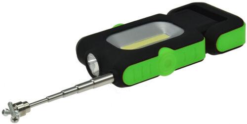 """COB LED Leuchte /""""3in1/"""" Taschenlampe Pick Werkzeug magnetisch Arbeitsleuchte"""