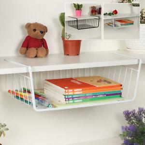 Under-Shelf-Basket-Wire-Wrap-Rack-Storage-Organizer-For-Kitchen-Pantry-Bathroom