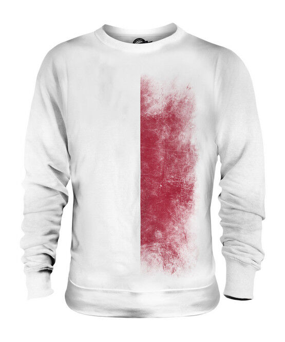 POLAND FADED FLAG UNISEX SWEATER TOP POLSKA FOOTBALL POLISH GIFT SHIRT