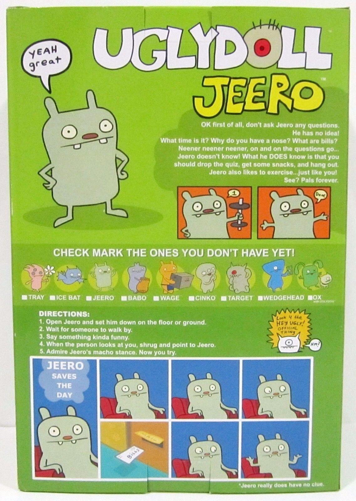 SUPER RARE  2004 Critterscatola 7    Vinyl JEERO UGLYbambola  BRe nuovo IN scatola  MUST HAVE 7fd5c0