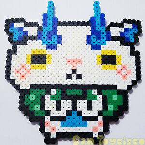 Details About Yo Kai Watch Custom Sprite Pixel Art 8 Bit Komasan 55 Pixelthat Nintendo
