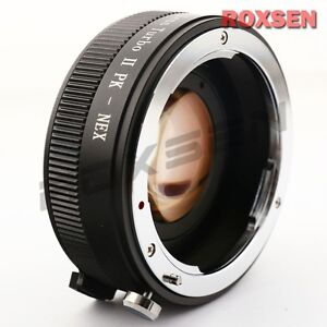Speed Booster Focal Reducer Lens Adapter For Pentax PK Lens to Sony E Mount NEX