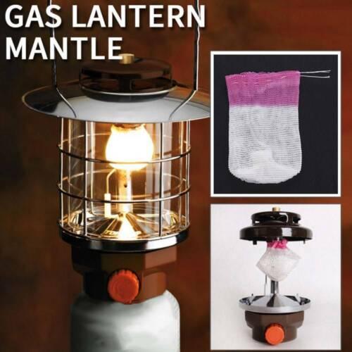 10pc Universal Gas Lantern Mantles For Outdoor Camping Gaz Hiking Light Lamps