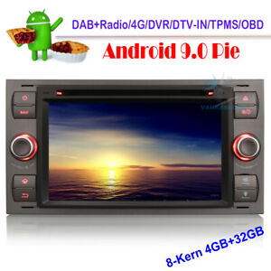 7-034-Android-9-0-DAB-Autoradio-GPS-navigation-CD-DVD-pour-Ford-Focus-Transit-Kuga