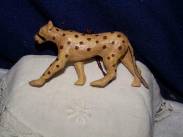 Vintage Paper Mache Ornament Leopard Cheetah For Sale Online