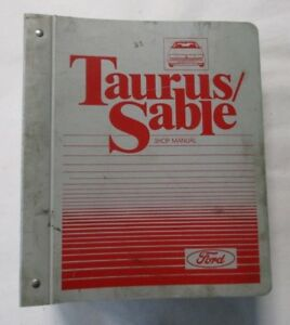 1987 FORD TAURUS MERCURY SABLE SERVICE SHOP REPAIR MANUAL ...