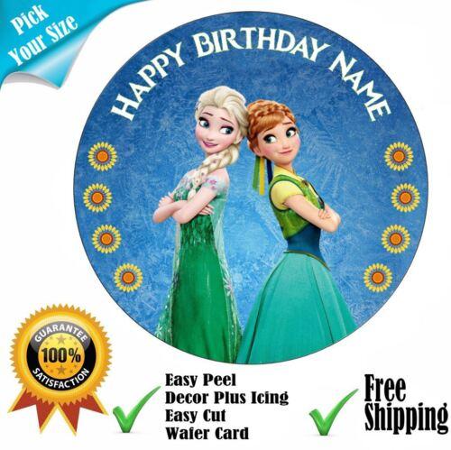 Frozen Fever thème personnalisé comestible cake topper ou ruban Set givrage OU TRANCHE