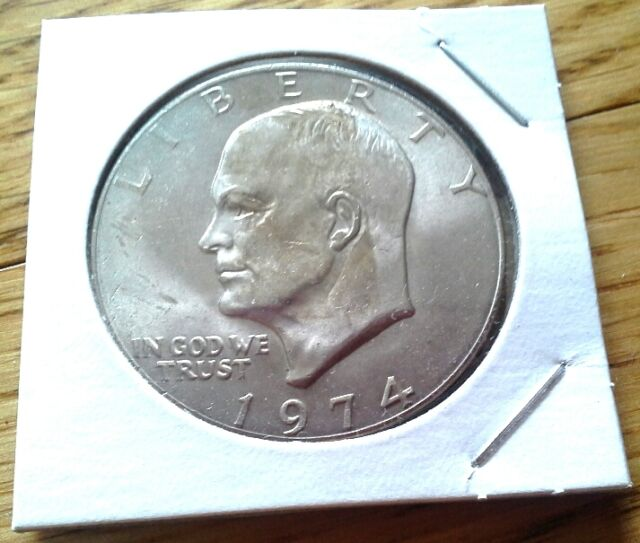 1971-P $1 EISENHOWER ABOUT UNCIRCULATED DOLLAR ADD TO CART!
