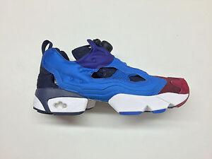 759a7ed5881 Image is loading Reebok-Instapump-Fury-Asym-Burgundy-Blue-Navy-Sneakers-