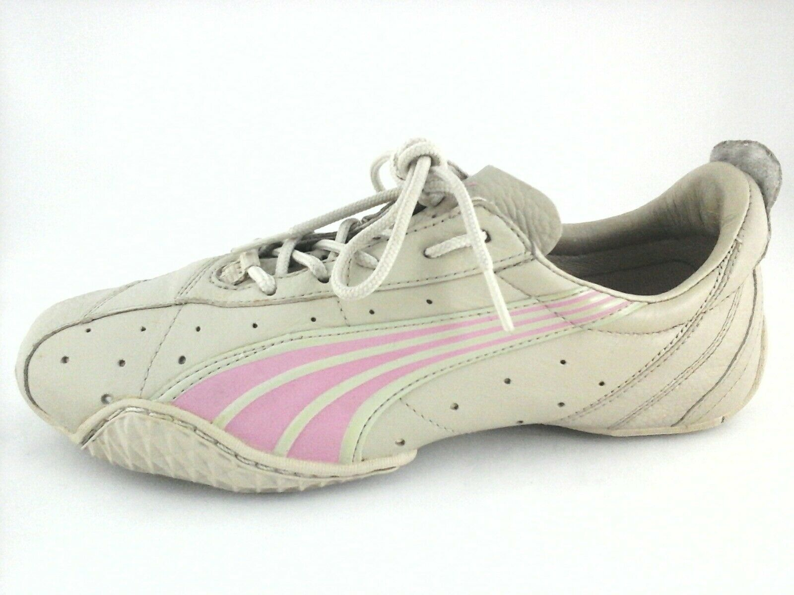 PUMA Sneakers Beige Pink Leather Racing shoes RARE EDITION Women's US 9