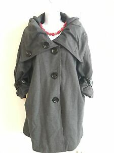 Look Miu Cappotto grigio 10 lana in misto qT1BxfX