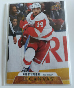2020-21 UD Series 2 Upper Deck UD Canvas Robby Fabbri C151 Detroit Red Wings