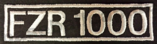 Patch ricamate FZR 1000 Colour ricamate patch v8 Hotrod Biker Moto 101