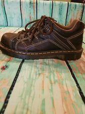 Mens US Size 9 11 13 Doc Dr Martens KEITH Brown Leather Shoes MSRP 130