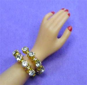 Dreamz-SNAKE-BRACELET-Diamond-Rhinestone-made-for-11-034-Barbie-Doll-Jewelry