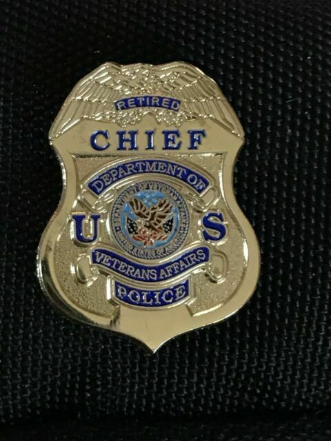 of Veterans Affairs Police Sergeant Mini Badge Key Ring Dept
