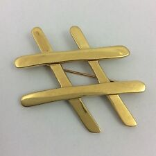 LARGE TIFFANY & CO. 18K YELLOW GOLD BROOCH PIN