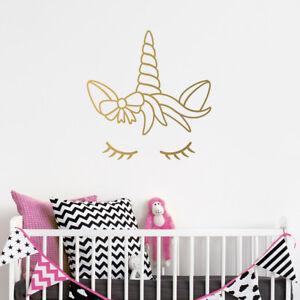 Dreaming-Licorne-Autocollant-Mural-fantasy-Wall-Art-pour-chambre-d-039-enfant-bebe