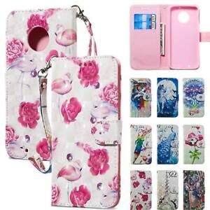 Pour-Motorola-MOTO-E5-G5-G6-Plus-Play-Cuir-Carte-etui-Portefeuille-Stand-Flip-Cover