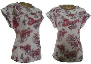 Womens-NEXT-Lovely-Woven-Floral-Print-T-Shirt-Blouse-Top-Tunic-8-18-SALE-SALE