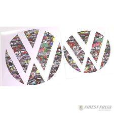Emblem Ecken Stickerbomb vorne+hinten VW Golf 7 VII GTI GTD R Turbo Logo