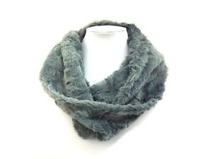 Ladies Soft Faux Fur Twisted Snood Warm Furry Neck Winter Infinity Scarf NEW