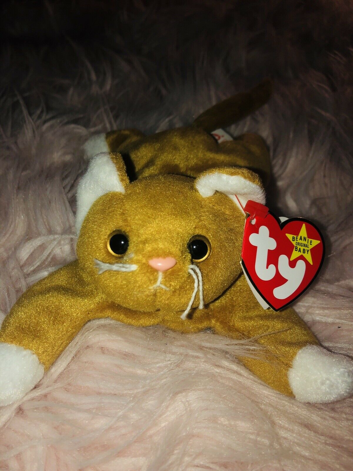 Nip rare beanie baby with P.V.C. pellets pellets pellets and tag errors c8e7aa