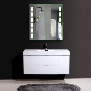 Bathroom Enjoy Music Led Illuminated Mirror Cabinet