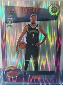 2019-20 NBA HOOPS PREMIUM KEVIN DURANT #284 TRIBUTE /35 PURPLE FLASH PRIZM RARE
