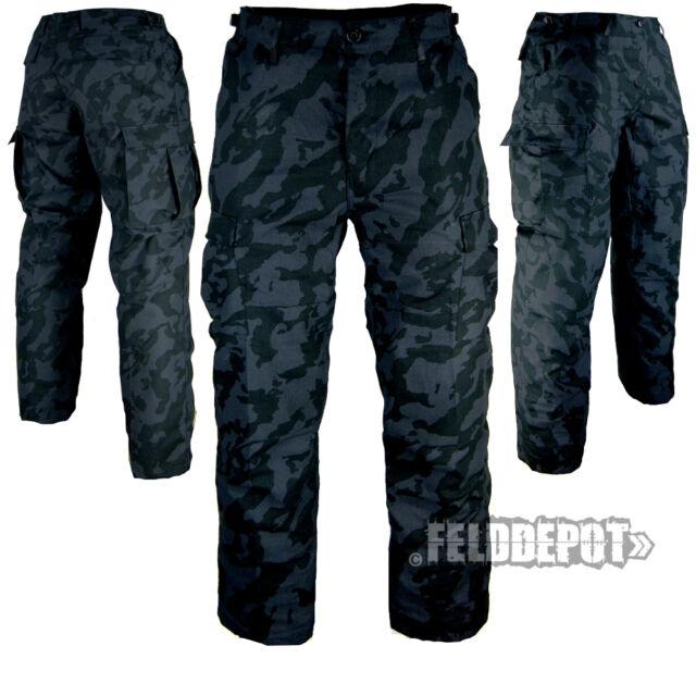 US BDU Feldhose Night Camo RIP-STOP Kampfhose Army Field Pants