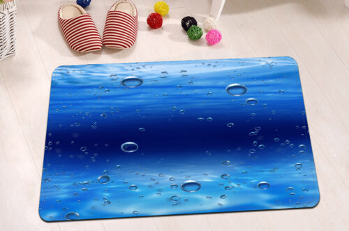 "72//79/"" Bathroom Fabric Shower Curtain Bath Mat 12Hook Set Ocean Undersea Bubble"