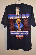 NWT Rare Vintage 1994 World Cup USA Fotball Soccer Graphic T Shirt Mens L Brazil