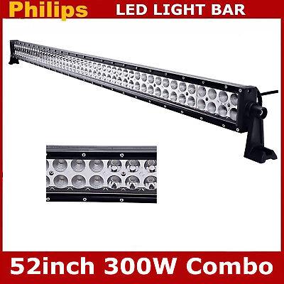 52inch 300W LED Light Bar 4D Opticals Offroad Fog Driving Combo Truck Lamp PK 54