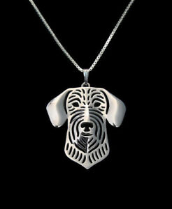 Wire-Haired-Dachshund-Silver-Charm-Pendant-Necklace-Dog-Lover-Friend-Gift