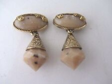anciennes boucles d'oreille clip style baroque vintage french earrings