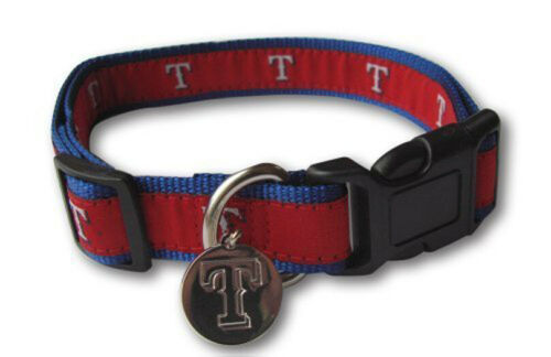 Sporty K9 MLB Texas Rangers Ribbon Dog Collar