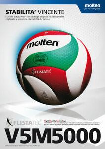 Molten-V5M5000-FLISTATEC-Pallone-pallavolo-Volleyball-originale-UFFICIALE