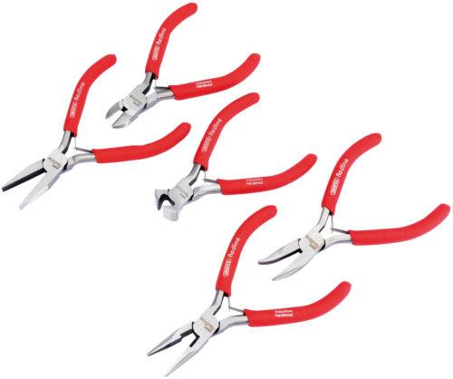 Mini pinces ensemble avec pvc Trempé poignées Draper 68311 5 Pièce