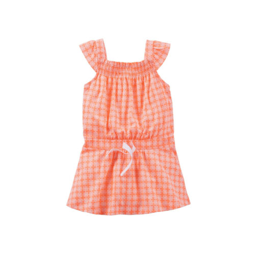 Beautifully Bright Orange Carter/'s Girl Playwear Sleeveless Flower Print Top 4T