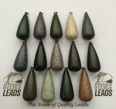 10x Square Pear Leads 4oz heli ring brown