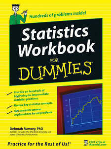 Statistics-Workbook-For-Dummies-by-Rumsey-Deborah-J-Paperback-Book