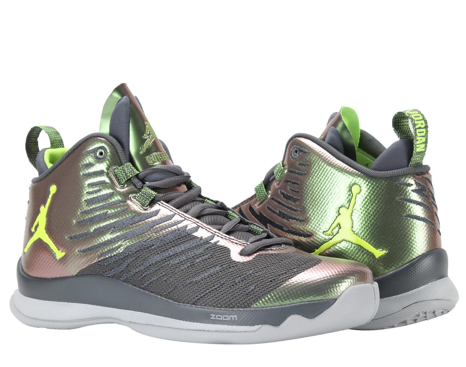 Air Jordan Super Fly 5 Dark Grey Volt Men's Basketball shoes SZ 12