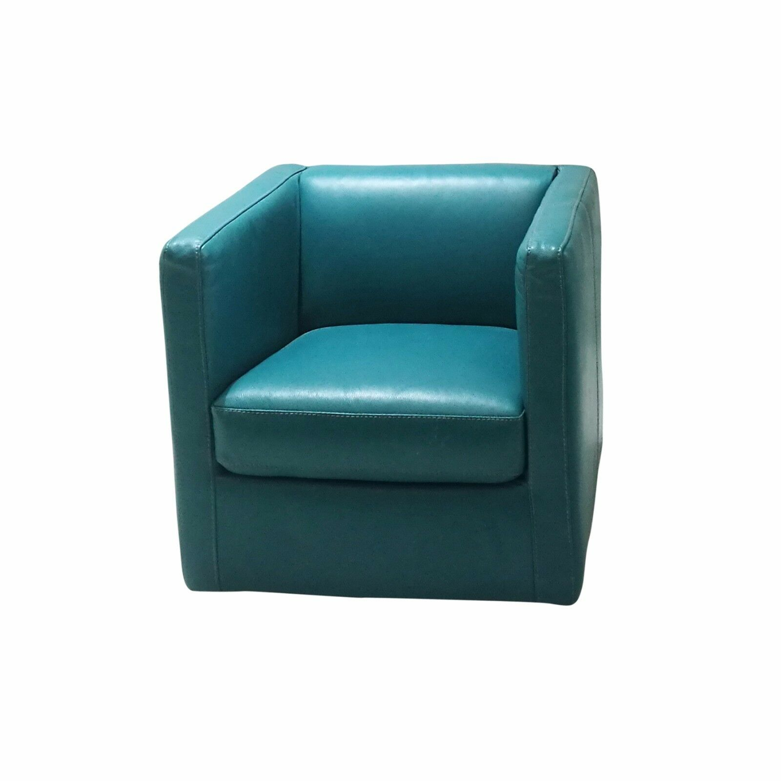 Modern Accent Leather Tub Chair Seat Lounge Sofa Armchair Occasional ...