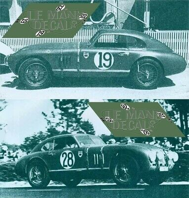 Purposeful Calcas Aston Martin Db2 Le Mans 1949 1:32 1:24 1:43 1:18 Slot Decals Non-Ironing Toys & Hobbies