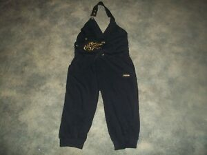 womens-romper-APPLE-BOTTOMS-black-jumpsuit-gold-bling-size-medium