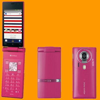Sharp SoftBank 007SH J Bitter Pink 16MP Unlocked GSM 3G Android Flip